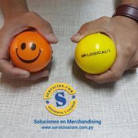 Pelotitas Antistrés Dentro de la categoría de regalos antiestrés este modelo clásico de pelota con caritas en colores Varios e impreso el logo de tu empresa. Consultas al WhatsApp (0982)950800