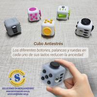 Cubo Anti estrés Dentro de la categoría de regalos anti estrés, este cubo con  seis caras, cada una ofreciendo un botón, palancas, ruedas y todo tipo de interruptores, capaces de quitarnos el estrés o la ansiedad que tenemos del día a día. Consultas al WhatsApp (0982)950-800