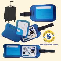 Etiquetador de Maletas Novedoso Etiquetador de maletas con set de costura de primera necesidad en caso de emergencia. Consultas al WhatsApp (0982)950800