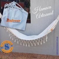 Hamaca Artesanal  Hamaca Artesanal tejidos en hijo de algodón, logo bordado a un color. Consultas al WhatsApp (0982)950800