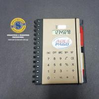Agenda Ecológica con Calculadora y Bolígrafo