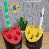 Porta Lápiz Bolígrafos  Porta lápiz y bolígrafo para escritorio, área de impresión para promocionar tu marca. Consultas al WhatsApp 0982-950800