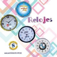 Relojes Personalizados Reloj de Pared modelo Redondo personalizado con las marcar de las empresas. Contactos al WhatsApp 0982 950800