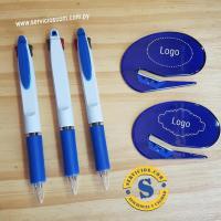 Set Bolígrafo y abrecartas Bolígrafo bicolor (tinta azul y roja) goma antideslizante área de impresión, abrecartas en material acrílico, cuchilla de acero inoxidable,área de impresión. Consultas al whatsApp (0982)950800